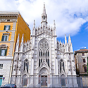 Very high resolution image of Sacro Cuore di Sacro di Suffragio in Rome, Italy
