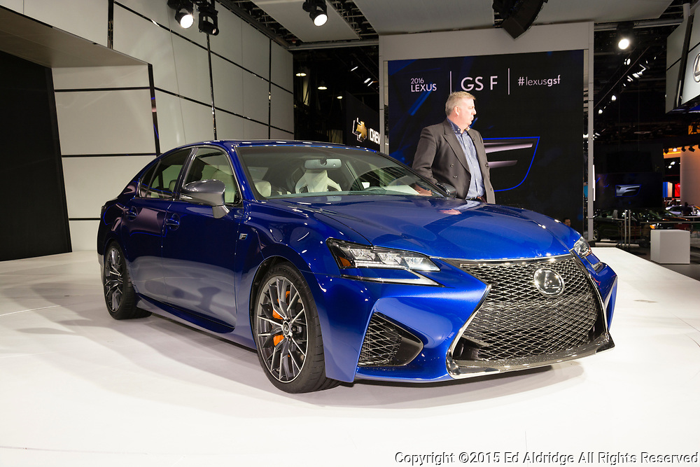 DETROIT, MI, USA - JANUARY 13, 2015: Lexus GS F on display during the 2015 Detroit International Auto Show at the COBO Center in downtown Detroit.
