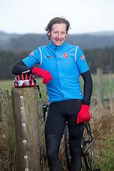 Wilson Renwick, training on his bike at Bonchester Bridge, Hawick.