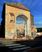 One of many murals in the French village of Carces, located in the Var/Provence.