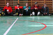 Mitglieder des ungarischen Goalball Teams bei einer Pause während dem internationalen Turnier in Budapest. Goalball ist eine Mannschaftssportart für blinde und sehbehinderte Menschen und wurde vom Österreicher Hans Lorenzen und dem deutschen Sepp Reindle für Kriegsinvalide entwickelt und zum ersten Mal 1946 gespielt. Die Bilder entstanden auf zwei internationalen Goalball Turnieren in Budapest und Zagreb 2007.<br /> <br /> Members of the hungarian Goalball team during a break at the international tournament in Budapest. Goalball is a team sport designed for blind and visually impaired athletes. It was devised by an Austrian, Hanz Lorenzen, and a German, Sepp Reindle, in 1946 in an effort to help in the rehabilitation of visually impaired World War II veterans. The International Blind Sports Federatgion (IBSA - www.ibsa.es), responsible for fifteen sports for the blind and partially sighted in total, is the governing body for this sport. The images were made during two Goalball tournaments in Budapest and Zahreb 2007.