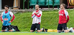 27.07.2017, Sportstadion Langau, Kitzbühel, AUT, Trainingslager, 1. FC Köln, im Bild v.l. Leonardo Bittencourt (1. FC Köln), Marcel Risse (1. FC Köln), Artjoms Rudnevs (1. FC Köln) // during the Trainingscamp of German Bundesliga Club 1. FC Köln at the Sportstadion Langau, Kitzbühel, Austria on 2017/07/27. EXPA Pictures © 2017, PhotoCredit: EXPA/ Stefan Adelsberger