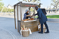 © Licensed to London News Pictures. 17/05/2016. NADIYA HUSSAIN creates a Great Fire of London Loaf at the London Dungeon's pop-up bread stall to mark the 350th anniversary of the Great Fire of London. London, UK. Photo credit: Ray Tang/LNP