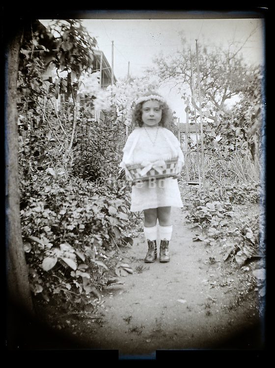 little girl in garden France 1926