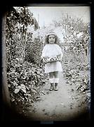 little girl in garden France 1926