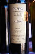 A bottle of Pisano RPF Reserva Personal de la Familia 2002 Tannat Progreso. Bodega Pisano Winery, Progreso, Uruguay, South America
