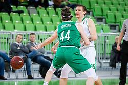 Gregor Hrovat of Petrol Olimpija during basketball match between Petrol Olimpija and Ilirija in Liga Nova KBM, Playoff for Champion, on March 7, 2018 in Arena Stozice, Ljubljana, Slovenia. Photo by Ziga Zupan / Sportida