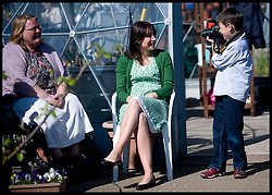 Samantha Cameron has her photo taken by Jacob Renwick on a visit to Chepstow Gardens, Blackpool, for a community rally during the general election campaign, Monday May 3, 2010. Photo By Andrew Parsons / i-Images.