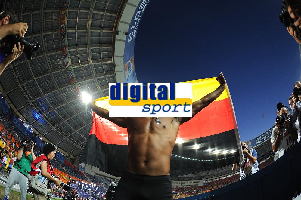 Athletics - IAAF World Championships 2013 - Stadium Loujniki , Moscow , RUSSIA - 10 to 18/08/2013 - Photo STEPHANE KEMPINAIRE / KMSP / DPPI - Day 3 - 12/08/13 -<br /> Pole Vault - Men - Finale - Gold Medal - Raphael Holzedeppe (GER)