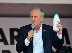 Turkish Presidential Candidate from main opposition party Muharrem Ince speaks during a rally in Usak city, central Anatolia, 25th of May, 2018. Photo by CHP Genel Merkezi/Depo Photos/ABACAPRESS.COM
