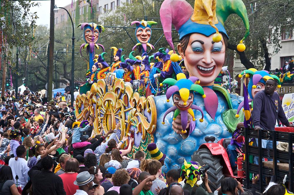Rex Parade, Mardi Gras, New Orleans, Louisiana, USA