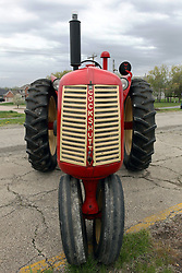 04 May 2013:   Arranged to coincide and be a part of the Red Corridor Route 66 festival, the village of Lexington hosts an antique tractor show.  Roger Whaley is the chairman of the organizing committee.  1947 Gambles Farmcrest model 30, made in Canada.