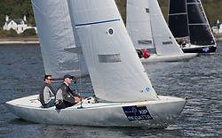 Lights winds dominated the Pelle P Kip Regatta  at Kip Marine weekend of 12/13th May 2018<br /> <br /> Lock 'N Load, Etchells with Peter Judd and Andy Holmes. <br /> <br /> Images: Marc Turner
