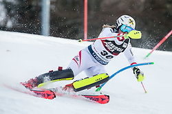 "Julia Gruenwald (AUT) competes during 1st Run of FIS Alpine Ski World Cup 2017/18 Ladies' Slalom race named ""Snow Queen Trophy 2018"", on January 3, 2018 in Course Crveni Spust at Sljeme hill, Zagreb, Croatia. Photo by Vid Ponikvar / Sportida"