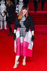 Ana Matronic attending the european premiere of Star Wars: The Last Jedi held at The Royal Albert Hall, London. Photo credit should read: Doug Peters/EMPICS Entertainment