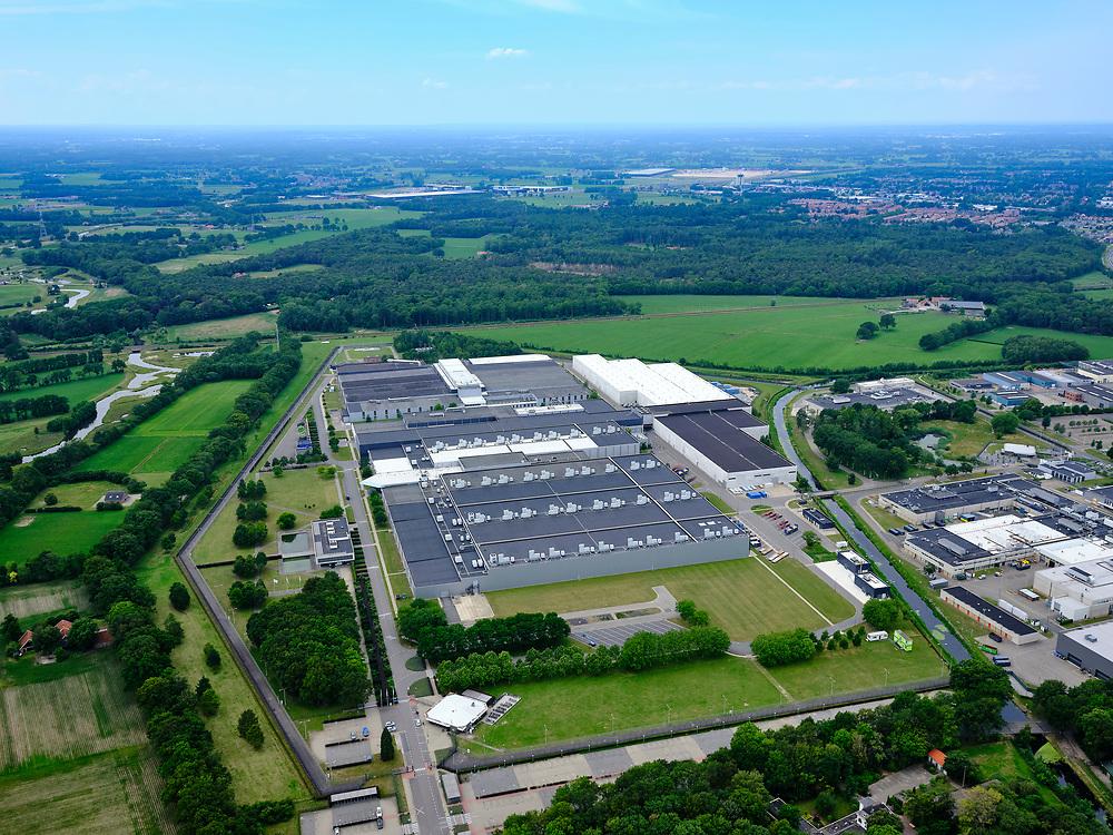 Nederland, Overijssel, Gemeente Almelo; 21–06-2020; vestiging van uraniumverrijkingsfabriek Urenco. Produceertverrijkt uranium en isotopen door middel vanultracentrifugetechniek. Ook bouw van de ultracentrifuges.<br /> Urenco, produces enriched uranium and isotopes by means of ultracentrifuge technology. Also construction of the ultracentrifuges.<br /> <br /> luchtfoto (toeslag op standaard tarieven);<br /> aerial photo (additional fee required)<br /> copyright © 2020 foto/photo Siebe Swart