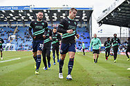 Queens Park Rangers Players warm up before kick off during the The FA Cup fourth round match between Portsmouth and Queens Park Rangers at Fratton Park, Portsmouth, England on 26 January 2019.