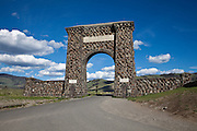 Roosevelt Gate at the north entrance to Yellowstone National Park