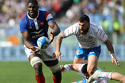 March 16, 2019 - Rome, RM, Italy - Yacouba Camara of France during the Six Nations International Rugby Union match between Italy and France at Stadio Olimpico on March 16, 2019 in Rome, Italy. (Credit Image: © Danilo Di Giovanni/NurPhoto via ZUMA Press)
