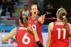 Azerbaijan Jana Matiasovska-Aghayeva celebrates