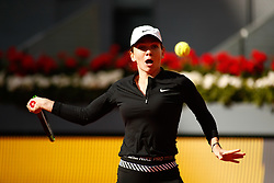 May 7, 2019 - Madrid, MADRID, SPAIN - Simona Halep (ROU) during the Mutua Madrid Open 2019 (ATP Masters 1000 and WTA Premier) tenis tournament at Caja Magica in Madrid, Spain, on May 07, 2019. (Credit Image: © AFP7 via ZUMA Wire)