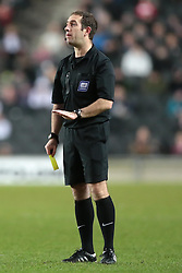 referee Jeremy Simpson  - Photo mandatory by-line: Nigel Pitts-Drake/JMP - Tel: Mobile: 07966 386802 30/11/2013 - SPORT - Football - Milton Keynes - Stadium mk - MK Dons v Coventry City - Sky Bet League One