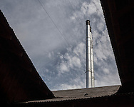 Standing tall and proud over the EBT shops, are the twin smoke stacks.