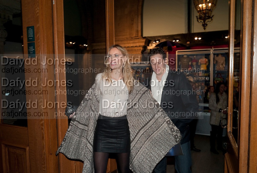 ZOE HOBBS; BRENDAN COLE, Press night of Cirque du Soleil's new show 'Totem' at The Royal Albert Hall.  London. January 5, 2011<br /> <br /> -DO NOT ARCHIVE-© Copyright Photograph by Dafydd Jones. 248 Clapham Rd. London SW9 0PZ. Tel 0207 820 0771. www.dafjones.com.