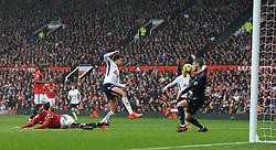 28th October 2017 - Premier League - Manchester United v Tottenham Hotspur - Dele Alli of Spurs misses from close range - Photo: Simon Stacpoole / Offside.