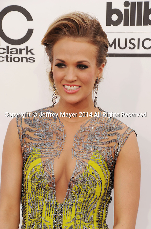 LAS VEGAS, CA- MAY 18: Singer Carrie Underwood arrives at the 2014 Billboard Music Awards at the MGM Grand Garden Arena on May 18, 2014 in Las Vegas, Nevada.