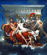 Jacques-Louis David (30 August 1748 – 29 December 1825) was a highly influential French painter in the Neoclassical style 1824 Mars desarme par Venus