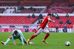 Nottingham Forest's Anthony Knockaert leaves Matt Grimes of Swansea City floundering - Mandatory by-line: Nick Browning/JMP - 29/11/2020 - FOOTBALL - The City Ground - Nottingham, England - Nottingham Forest v Swansea City - Sky Bet Championship