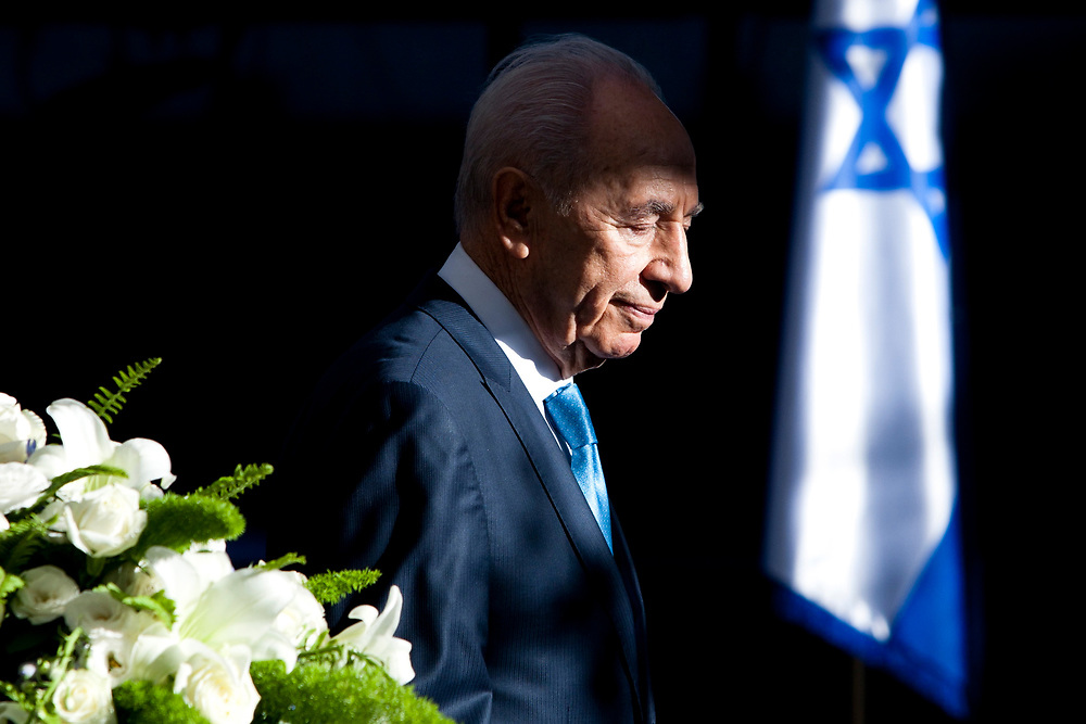 Israel's President Shimon Peres is seen at the President's Residence in Jerusalem on May 10, 2011, during to a traditional reception for members of the diplomatic corps in Israel, part of the celebrations for Israel's Independence Day marking the 63rd anniversary of the creation of the state.