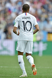Kylian Mbappé at the World Cup round of 8 game between France and Uruguay on July 6, 2018 in Nizhny Novgorod, Russia. Photo by Lionel Hahn/ABACAPRESS.COM