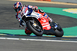 May 18, 2018 - Le Mans, France - Danilo Petrucci (Pramac) during the practice sessions.during MotoGP Le Mans practice sessions in France  (Credit Image: © Gaetano Piazzolla/Pacific Press via ZUMA Wire)