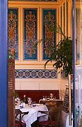 The restaurant La Belle Epoque, with decorated interior