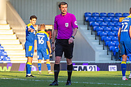 Referee Craig Hicks during the EFL Sky Bet League 1 match between AFC Wimbledon and Hull City at Plough Lane, London, United Kingdom on 27 February 2021.