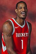 Houston, TX - September 25, 2017:  Houston Rockets' Trevor Ariza pose during the Rockets' 2017 Media Day.<br /> <br /> credit:  Michael Starghill for ESPN