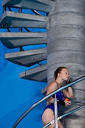 August 6, 2018 - Edinburgh, UNITED KINGDOM - 180806 Vinko Paradzik and Ellen Ek of Sweden compete in the final of the team event 3m/10m diving during the European Championships on August 6, 2018 in Edinburgh..Photo: Jon Olav Nesvold / BILDBYRÃ…N / kod JE / 160287 (Credit Image: © Jon Olav Nesvold/Bildbyran via ZUMA Press)