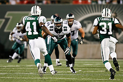 Philadelphia Eagles defensive end Bryan Smith #63 during the NFL game between the Philadelphia Eagles and the New York Jets on September 3rd 2009. The Jets won 38-27 at Giants Stadium in East Rutherford, NJ.  (Photo By Brian Garfinkel)