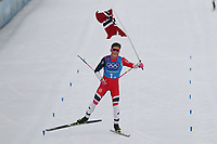 PYEONGCHANG,SOUTH KOREA,18.FEB.18 - OLYMPICS, NORDIC SKIING, CROSS COUNTRY SKIING - Olympic Winter Games PyeongChang 2018, 4 x 10km Relay, men. Image shows Johannes Hoesflot Klæbo (NOR). <br /> <br /> Norway only