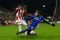 Football - Europa League - Stoke City vs. Dynamo Kiev<br /> Kiev's Betao challenges Stoke's Jermaine Pennant at the Britannia Stadium