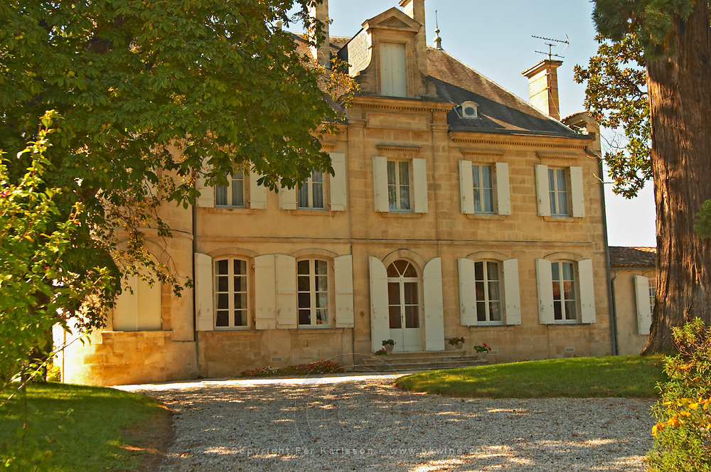 Chateau Cos Labory in Saint St Estephe, the park and garden