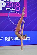 Demirors Derya Qualification hoop World Cup Pesaro 2018 Demirors Derya is a Turkey athlete of rhythmic gymnastics born in Konak in 2002.