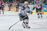 KELOWNA, CANADA - MARCH 23: Tyson Baillie #24 of the Kelowna Rockets warms up against the Tri-City Americans on March 23, 2014 during game 2 of the first round of WHL Playoffs at Prospera Place in Kelowna, British Columbia, Canada.   (Photo by Marissa Baecker/Getty Images)  *** Local Caption *** Tyson Baillie;