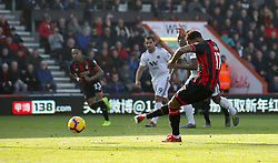 Bournemouth's Joshua King scores his side's first goal of the game from the penalty spot during the Premier League match at the Vitality Stadium, Bournemouth.
