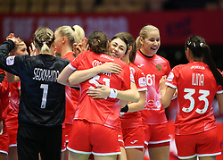 HERNING, DENMARK - DECEMBER 3, 2020: Russia after the EHF Euro 2020 Group C match between Russia and Spain in Jyske Bank Boxen, Herning, Denmark on December 3 2020. Photo Credit: Allan Jensen/EVENTMEDIA.