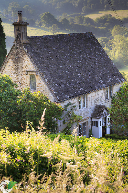 Rose Cottage, the house Laurie Lee bought with the proceeds of Cider with Rosie, in the village of Slad, Gloucestershire.