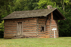 July 2007: Snodgrass Cabin - Chickamauga National Park, Georgia. Attractions near Chattanooga Tennessee. Point Park, National Park Service - Lookout Mountain, TN.