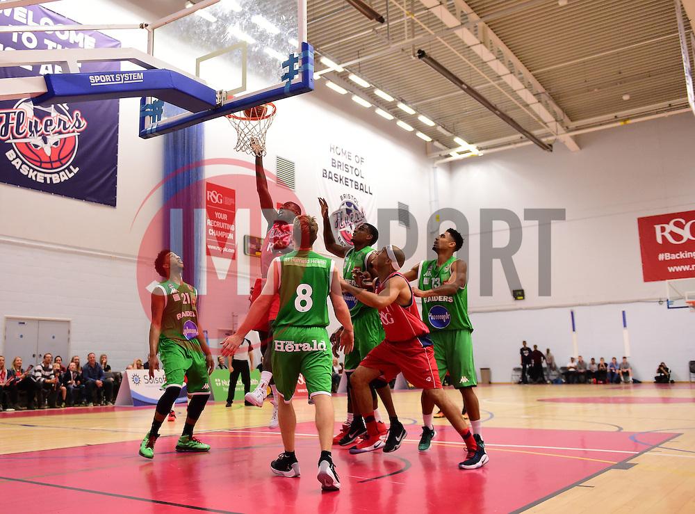 Daniel Edozie of Bristol Flyers  - Photo mandatory by-line: Joe Meredith/JMP - 24/09/2016 - BASKETBALL - SGS Wise Arena - Bristol, England - Bristol Flyers v Plymouth Raiders - British Basketball League Championship